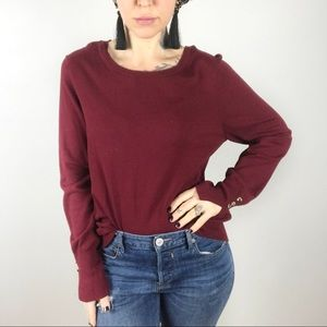 FRENCH CONNECTION Wine Crew Neck Sweater